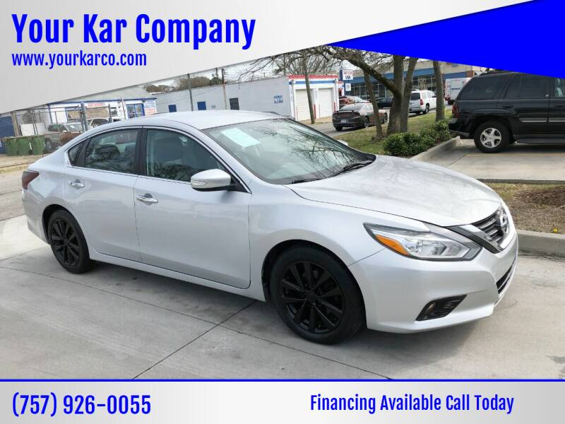 2017 Nissan Altima for sale at Your Kar Company in Norfolk VA