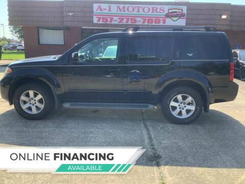 2012 Nissan Pathfinder for sale at A-1 Motors in Virginia Beach VA