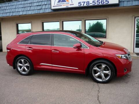 2013 Toyota Venza for sale at Mountain View Motors Inc in Colorado Springs CO