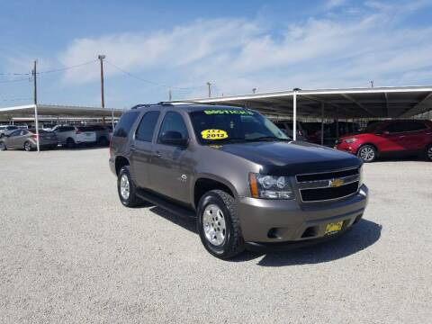 2012 Chevrolet Tahoe for sale at Bostick's Auto & Truck Sales in Brownwood TX