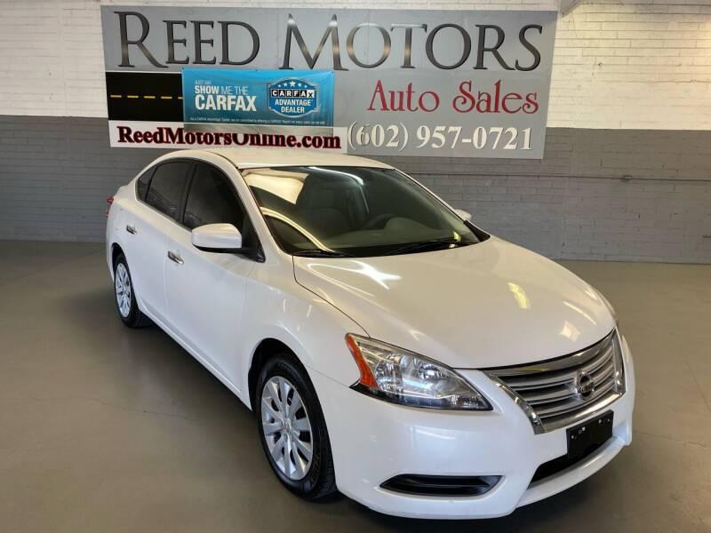 2013 Nissan Sentra for sale at REED MOTORS LLC in Phoenix AZ