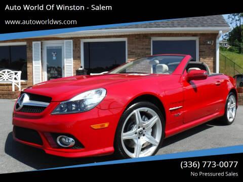 2009 Mercedes-Benz SL-Class for sale at Auto World Of Winston - Salem in Winston Salem NC