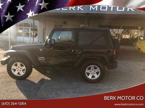 2012 Jeep Wrangler for sale at Berk Motor Co in Whitehall PA