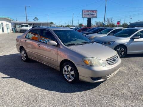 2003 Toyota Corolla for sale at Jamrock Auto Sales of Panama City in Panama City FL