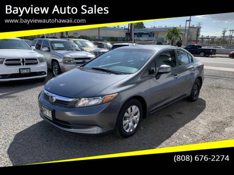2012 Honda Civic for sale at Bayview Auto Sales in Waipahu HI