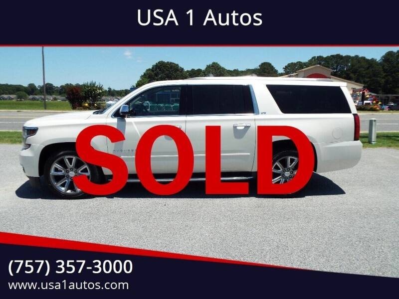 2015 Chevrolet Suburban for sale at USA 1 Autos in Smithfield VA