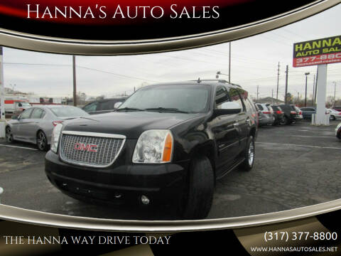 2011 GMC Yukon for sale at Hanna's Auto Sales in Indianapolis IN