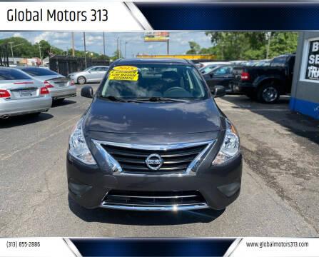 2015 Nissan Versa for sale at Global Motors 313 in Detroit MI