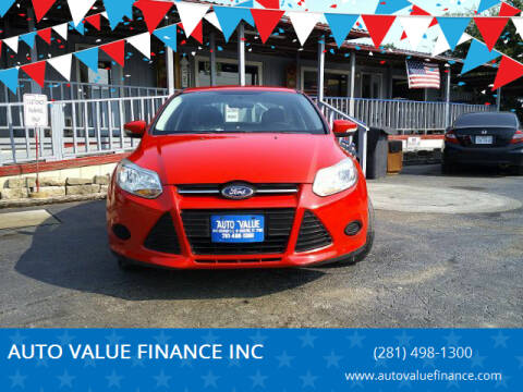 2014 Ford Focus for sale at AUTO VALUE FINANCE INC in Stafford TX