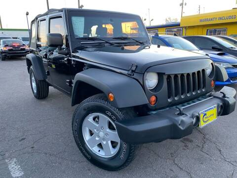 2010 Jeep Wrangler Unlimited for sale at New Wave Auto Brokers & Sales in Denver CO