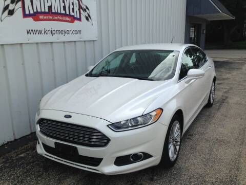 2014 Ford Fusion for sale at Team Knipmeyer in Beardstown IL