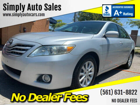 2010 Toyota Camry for sale at Simply Auto Sales in Palm Beach Gardens FL
