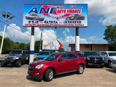 2013 Chevrolet Equinox for sale at ANF AUTO FINANCE in Houston TX