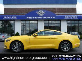 2016 Ford Mustang for sale at Highline Group Motorsports in Lowell MA