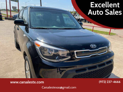 2014 Kia Soul for sale at Excellent Auto Sales in Grand Prairie TX