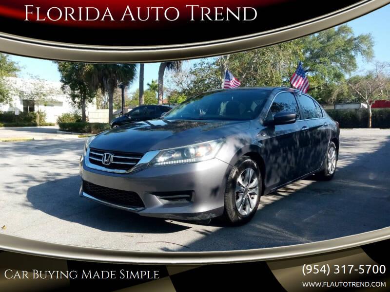 2014 Honda Accord for sale at Florida Auto Trend in Plantation FL