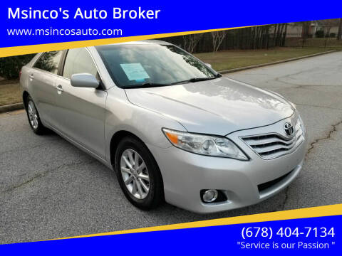 2010 Toyota Camry for sale at Msinco's Auto Broker in Snellville GA