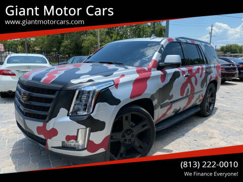 2016 Cadillac Escalade for sale at Giant Motor Cars in Tampa FL