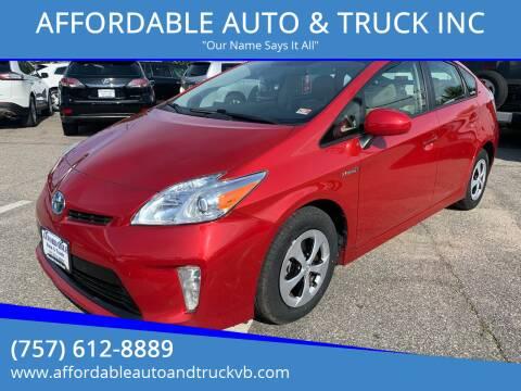 2014 Toyota Prius for sale at AFFORDABLE AUTO & TRUCK INC in Virginia Beach VA
