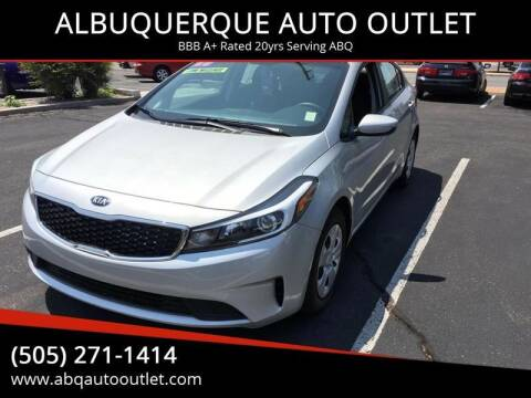 2017 Kia Forte for sale at ALBUQUERQUE AUTO OUTLET in Albuquerque NM