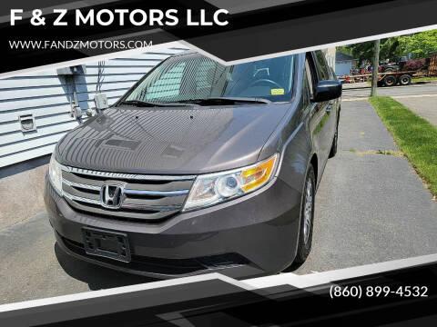 2012 Honda Odyssey for sale at F & Z MOTORS LLC in Waterbury CT