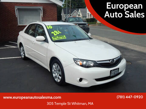 2010 Subaru Impreza for sale at European Auto Sales in Whitman MA