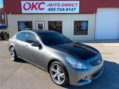 2013 Infiniti G37 Sedan for sale at OKC Auto Direct in Oklahoma City OK