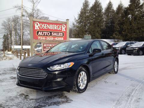 2016 Ford Fusion for sale at Rosenberger Auto Sales LLC in Markleysburg PA