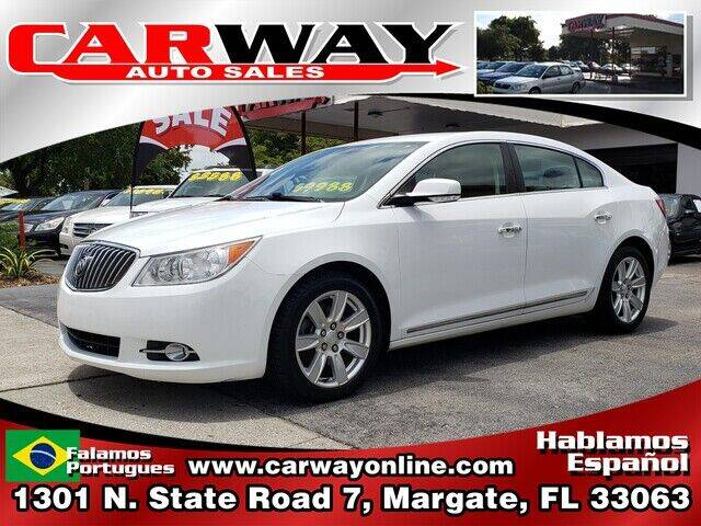 2013 Buick LaCrosse for sale at CARWAY Auto Sales in Margate FL