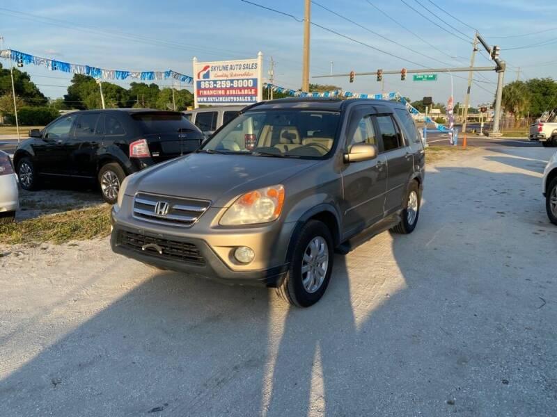 2005 Honda CR-V for sale at SKYLINE AUTO SALES LLC in Winter Haven FL