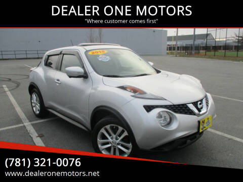 2015 Nissan JUKE for sale at DEALER ONE MOTORS in Malden MA