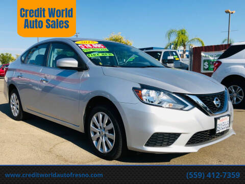 2018 Nissan Sentra for sale at Credit World Auto Sales in Fresno CA