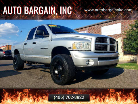 2004 Dodge Ram Pickup 1500 for sale at AUTO BARGAIN, INC. #2 in Oklahoma City OK