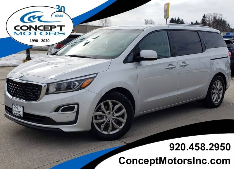 2019 Kia Sedona for sale at CONCEPT MOTORS INC in Sheboygan WI
