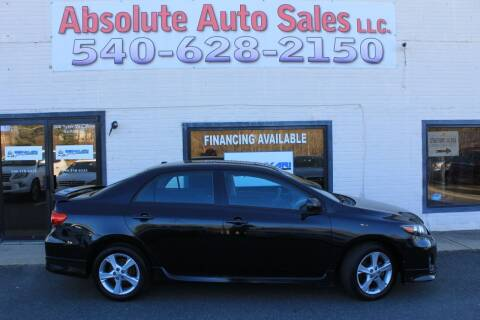 2011 Toyota Corolla for sale at Absolute Auto Sales in Fredericksburg VA