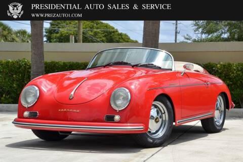 1957 Porsche 356A Speedster for sale at Presidential Auto  Sales & Service in Delray Beach FL