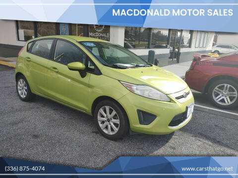 2011 Ford Fiesta for sale at MacDonald Motor Sales in High Point NC