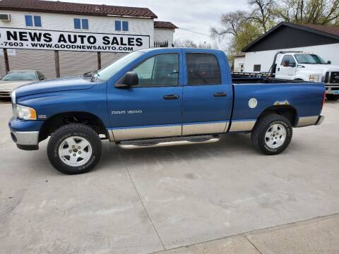 2004 Dodge Ram Pickup 1500 for sale at GOOD NEWS AUTO SALES in Fargo ND
