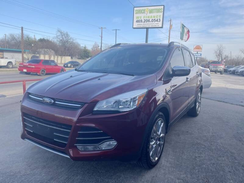 2015 Ford Escape for sale at Shock Motors in Garland TX