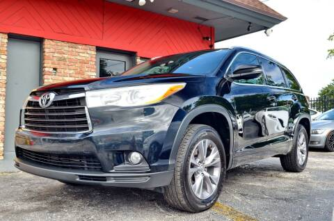2014 Toyota Highlander for sale at ALWAYSSOLD123 INC in North Miami Beach FL