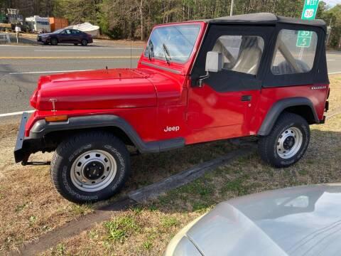 1990 Jeep Wrangler for sale at MIKE B CARS LTD in Hammonton NJ