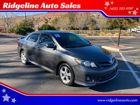 2013 Toyota Corolla for sale at Ridgeline Auto Sales in Saint George UT