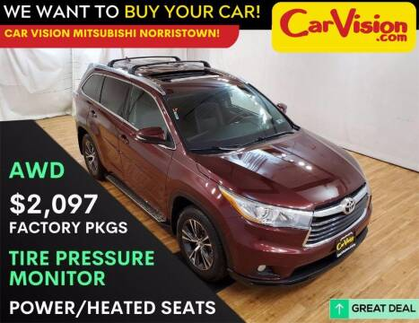 2016 Toyota Highlander for sale at Car Vision Mitsubishi Norristown in Trooper PA
