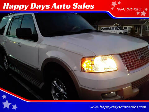 2005 Ford Expedition for sale at Happy Days Auto Sales in Piedmont SC