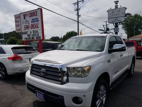 2008 Toyota Tundra for sale at 1st Choice Auto Sales in Newport News VA