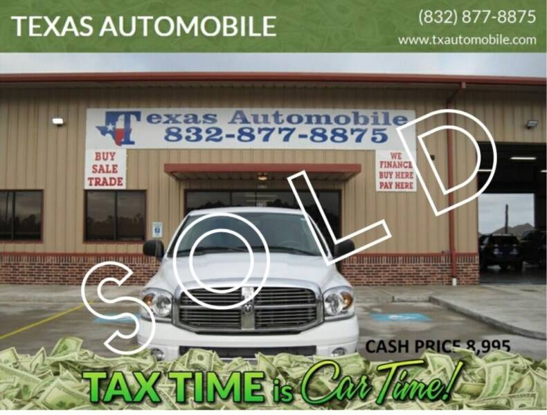 2007 Dodge Ram Pickup 1500 for sale at TEXAS AUTOMOBILE in Houston TX