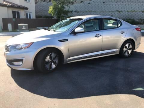 2011 Kia Optima Hybrid for sale at CALIFORNIA AUTO GROUP in San Diego CA