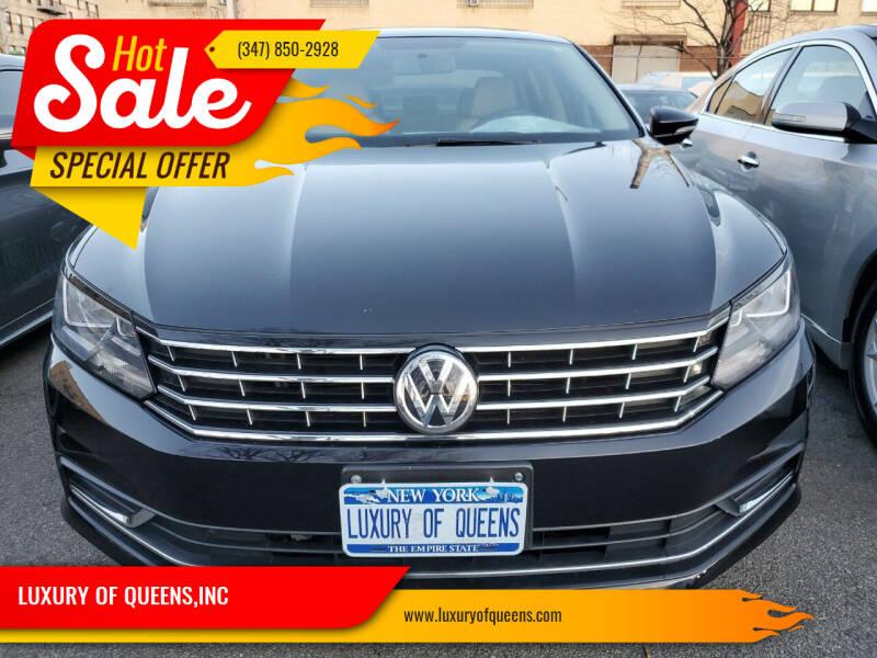 2018 Volkswagen Passat for sale at LUXURY OF QUEENS,INC in Long Island City NY