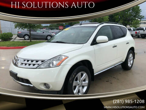 2006 Nissan Murano for sale at HI SOLUTIONS AUTO in Houston TX
