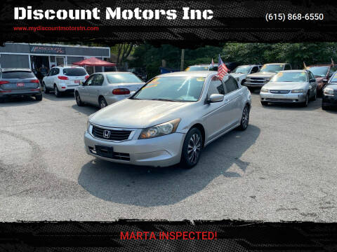2010 Honda Accord for sale at Discount Motors Inc in Madison TN